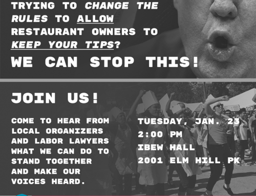 Mass Informational Meeting of Restaurant Workers About the Changes in Tip-Based Wages